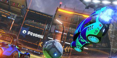 """In """"Rocket League"""" spielen Sie """"Fußball"""" mit Autos."""