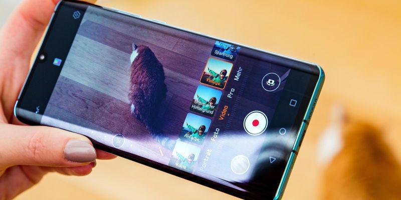 Die Video-Funktionen des Smartphones.