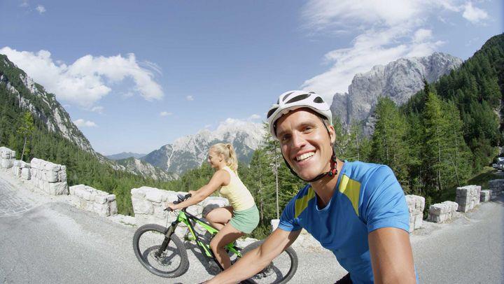Mit dem E-Bike auf den Berg.