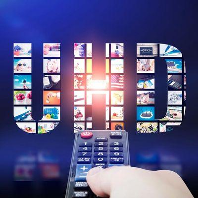 Ein UHD-Fernseher hat eine Auflösung von 3.840 x 2.160 Pixel.