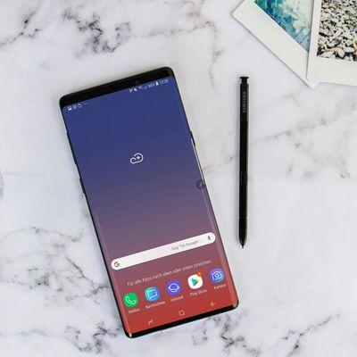 Das neue Samsung Galaxy Note9 im Fokus.