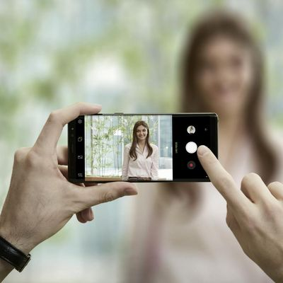 Bokeh-Effekt mit dem Smartphone.