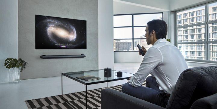 LG stellt auf der CES TV-Geräte mit künstlicher Intelligenz vor.