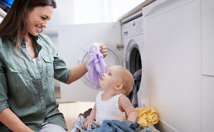 Einbau-Waschmaschine.
