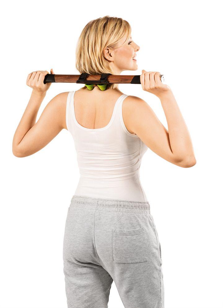 Vier Behandlungsflächen hat das Beurer MG 850 Faszienmassagegerät für Rücken, Nacken, Hüfte und Schenkel zu bieten.