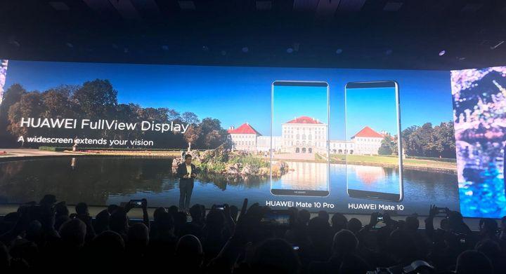 Im Rahmen der Keynote in München zeigt Huawei seine neuen Smartphone-Topmodelle Mate 10 Lite und Mate 10 Pro.