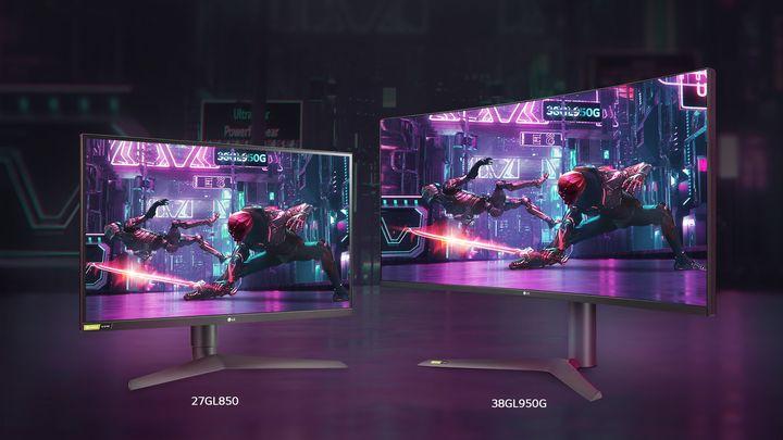 Auch LG präsentiert Bildschirme.