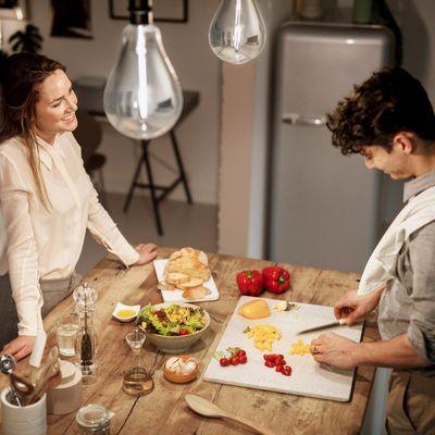 Smarte Beleuchtung in der Küche mit Philips Hue.