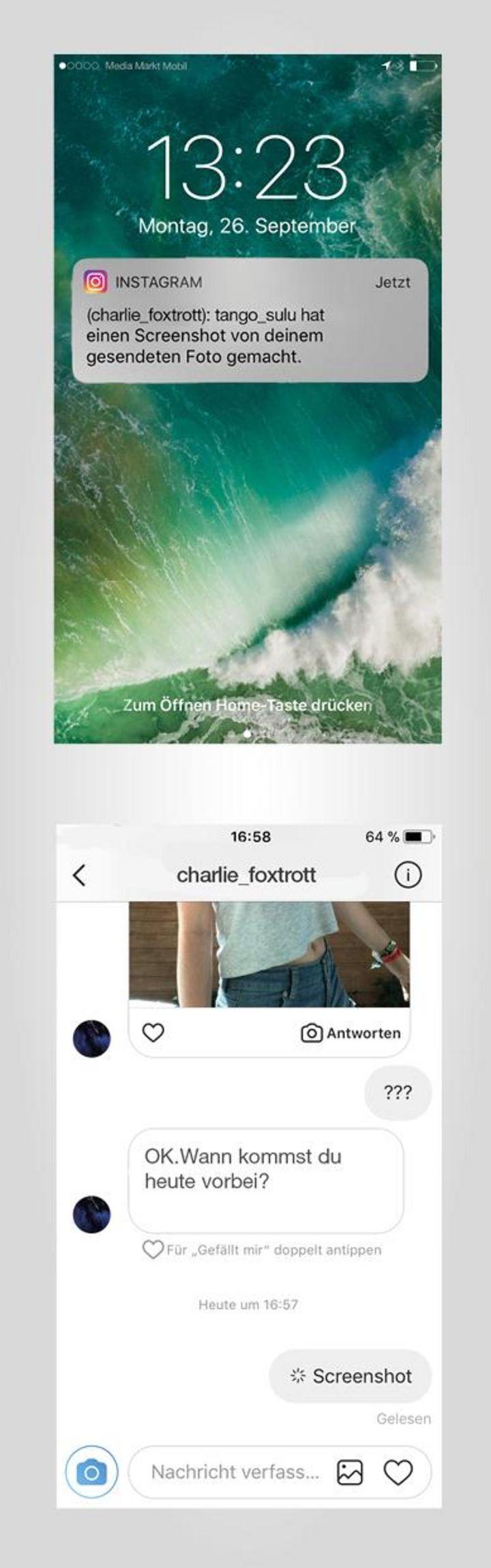 """""""Instagram"""": So sieht die neue Warnfunktion aus."""