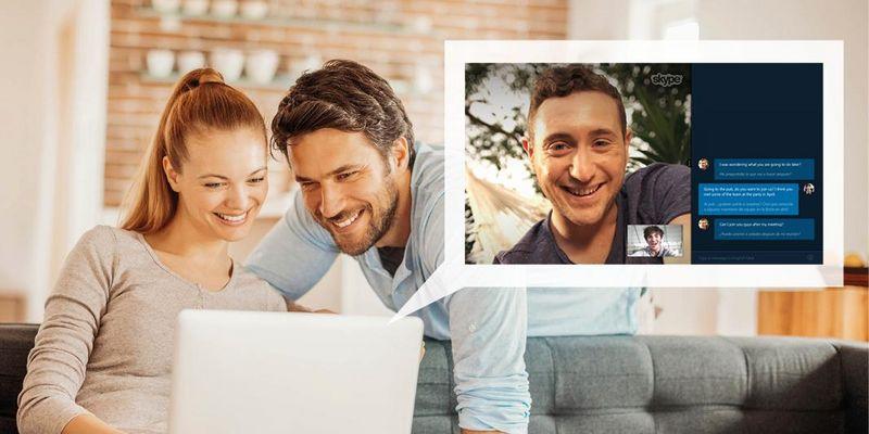 """Mit """"Skype Translator"""" werden Video-Telefonate live übersetzt."""