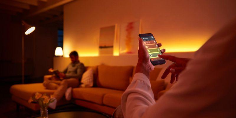 Smartes Licht kann per App gesteuert werden.