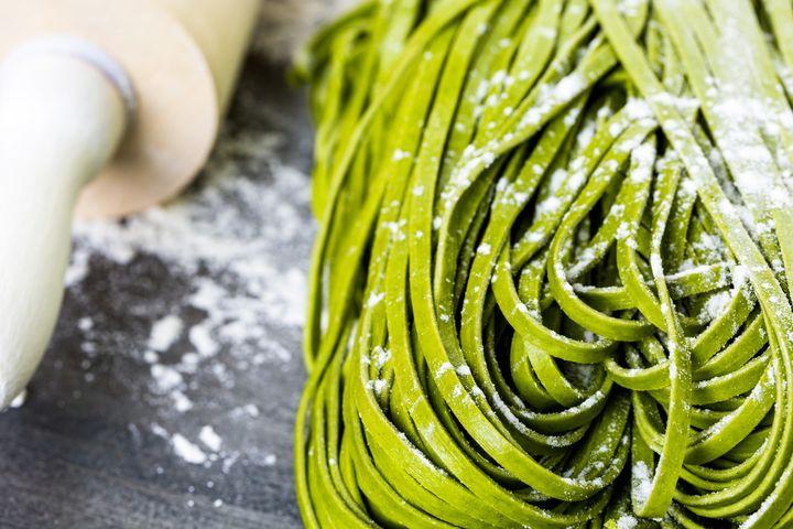 Grüne Nudeln