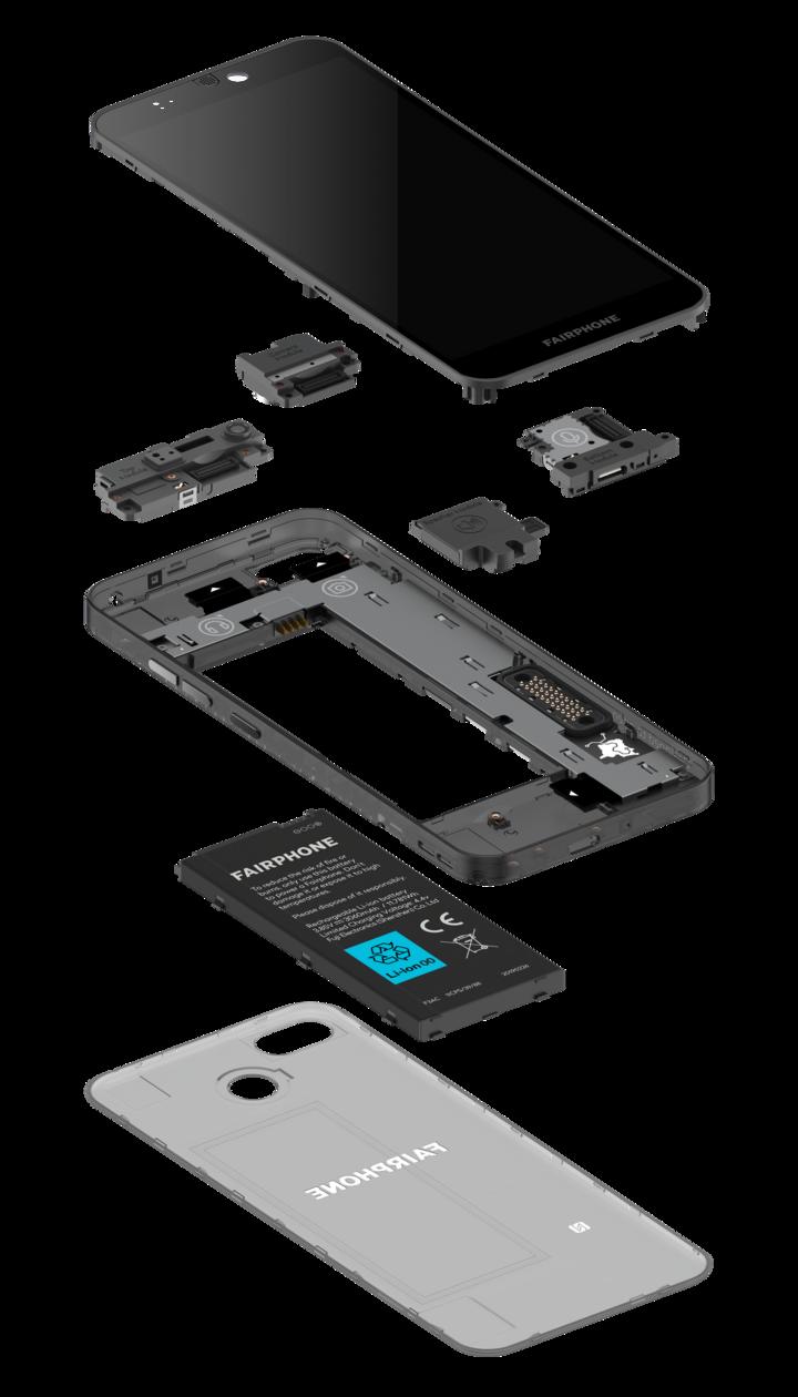 Das Fairphone 3+ ist modular aufgebaut.