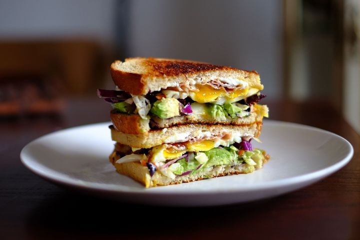 Avocado im Sandwich.