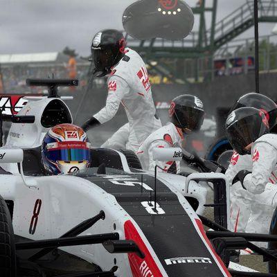 F1-Rennszene in Silverstone