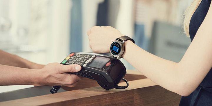 Die Gear S3 verfügt auch über eine NFC Funktion.
