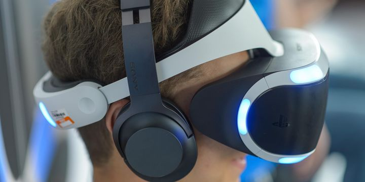 Die PlayStation VR in Aktion.