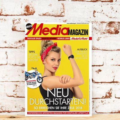 Das Mediamagazin im Jänner/Februar 2018.