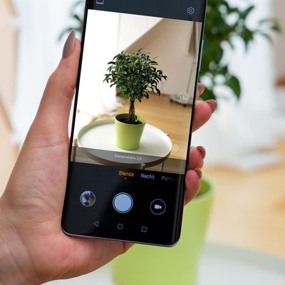 Die Kamera des Smartphones im Detailblick.