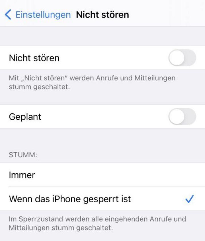 """""""Nicht stören"""" aktivieren auf dem iPhone"""