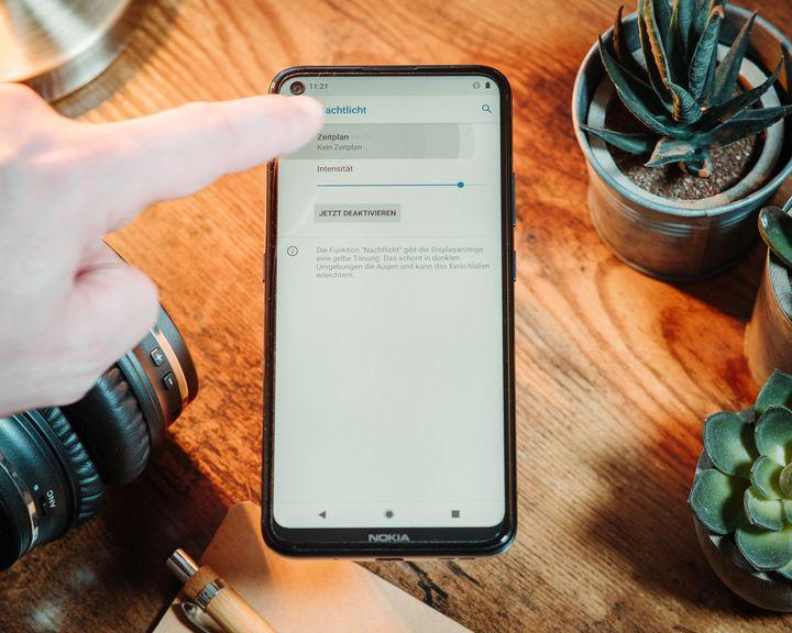 Nokia 5.4: Nachtlicht mit Zeitplan einstellen