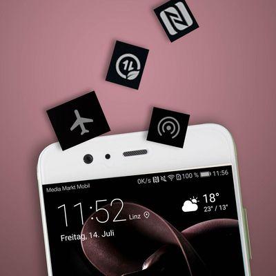 Die Symbole der Android-Statusleiste.
