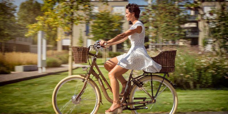 """Ein E-Bike wie das Fischer """"City Retro E-Bike 28'' ER 1804"""" passt zu dynamischen Müttern."""