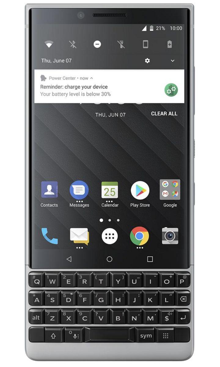 Neues Smartphone BlackBerry KEY2 mit Dual-Kamera und intelligenter Tastatur.