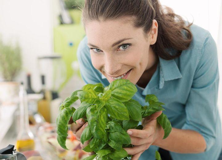 Basilikum hilft, beim Kochen Salz einzusparen.