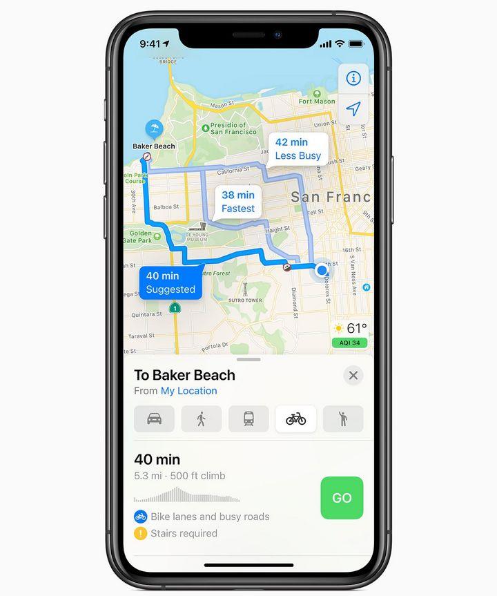 Die konzerneigene Navigations-App wird dabei um zusätzliche Funktionen für Radfahrer und Lenker von E-Autos erweitert.