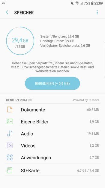 Unter Android können unnötige Daten einfach gelöscht werden.
