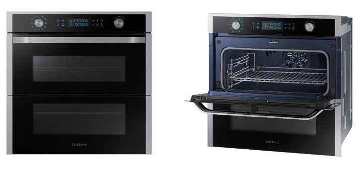 """Samsung """"Dual Cook Flex"""": Betriebsarten, Temperaturen und Garzeiten können bei der gleichzeitigen Zubereitung mehrerer Speisen variieren."""