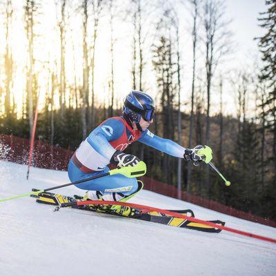 Wengen Herren Abfahrt Training Skiläufer