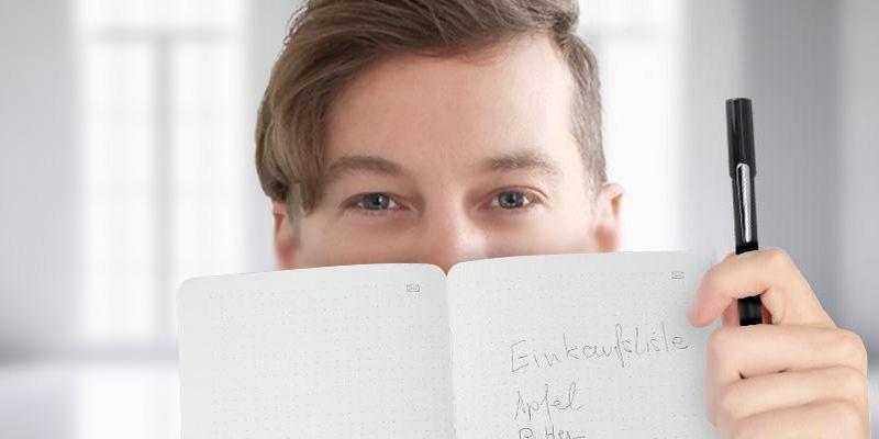 Der Ausprobierer testet das Moleskine Smart Writing Set.