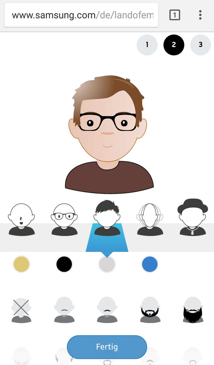Nach der Erstellung können Sie noch Ihrem Emoji-Ich arbeiten.
