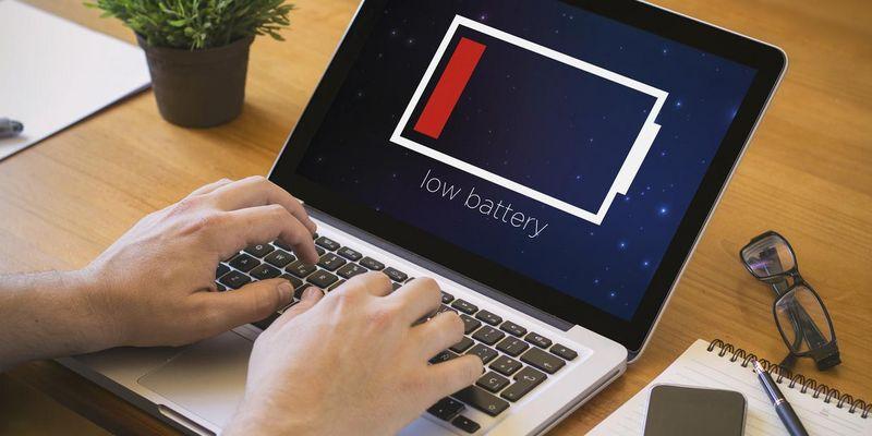 Laptop-Akku sparen.