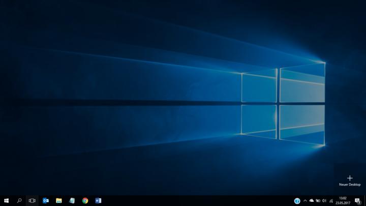"""So richtet man einen virtuellen Desktop in """"Windows 10"""" ein."""