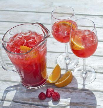 Himbeere-Orangen-Drink