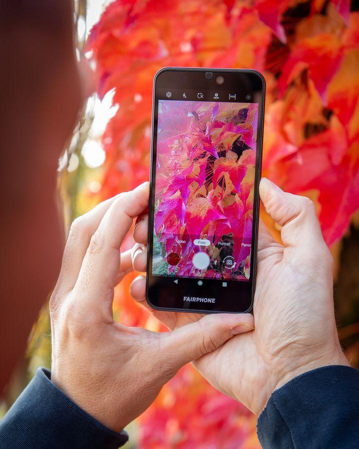 Die leicht durchsichtige Hülle erlaubt Einblick ins Innere des Smartphones.
