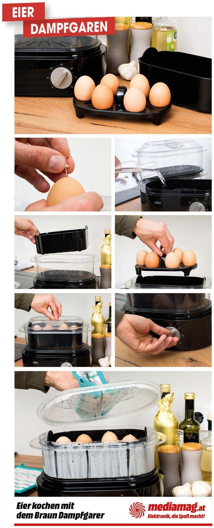 Der Braun Dampfgarer eignet sich hervorragend zur Zubereitung der Frühstückseier.