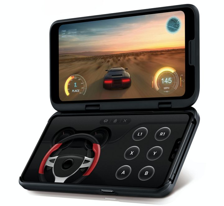 """Das auffallendste Merkmal des """"V50 ThinQ 5G"""" sind ohne Zweifel dessen zwei QHD+ OLED FullVision Displays."""
