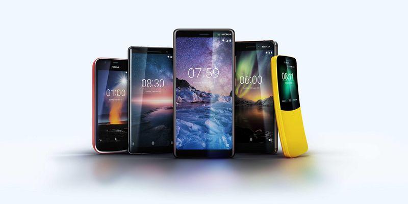 Nokia präsentiert fünf neue Smartphones.