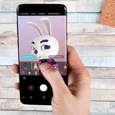 AR-Emojis am Samsung Galaxy S9 erstellen.