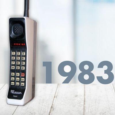 """Das """"DynaTAC 8000X"""" von Motorola erschien 1983 auf dem Markt."""