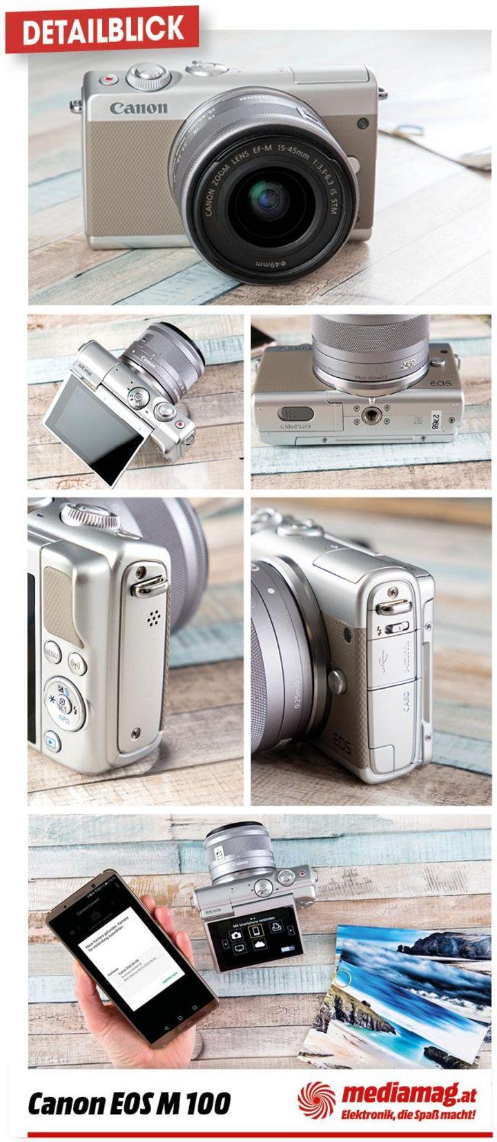 Die Canon EOS M100 verfügt über Kreativassistent, Special-Scene-Modi und Kreativfilter.
