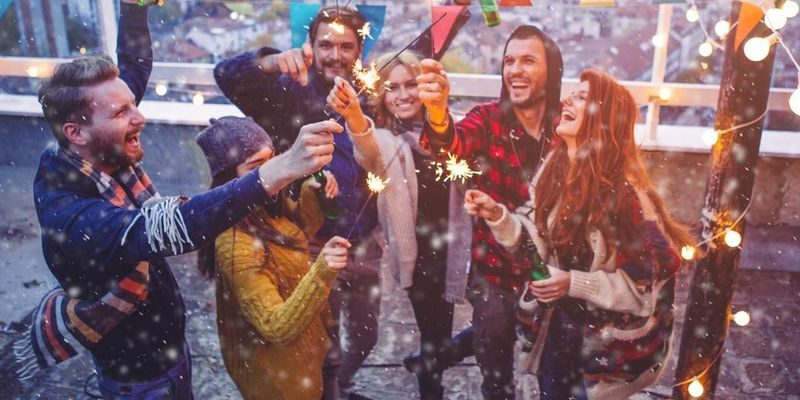 Outdoor-Party zu Silvester