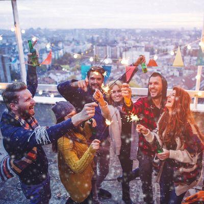 Outdoor-Party zu Silvester