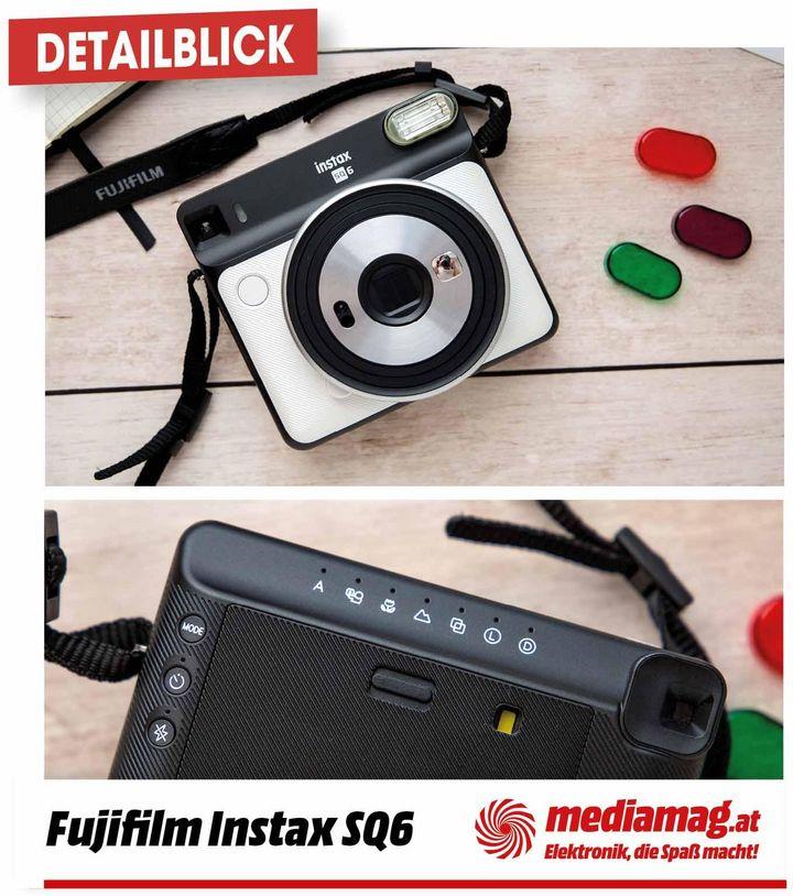 """Die quadratische Instant-Kamera von Fujifilm: die """"instax SQUARE SQ6""""."""