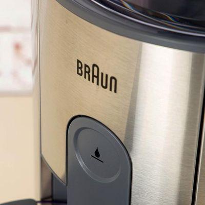 Der Entsafter IdentityCollection J 500 WH von Braun ist für ganze Früchte geeignet.