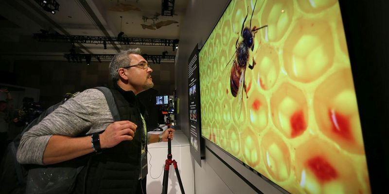 Riesen 8k-Fernseher von Samsung.